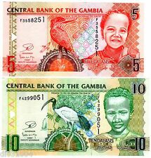 LOT SET SERIE 2 Billets Gambie GAMBIA  Dalasis 2013 NEW NOUVEAU  UNC NEUF