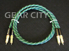crc80 1m 3ft RCA Audio OFC Cable Gold Plug Phono CD Player Amplifier HiFi