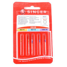 SINGER Standard Domestic Sewing Machine MIXED NEEDLES (ASSORTED SIZES PACK OF 5)