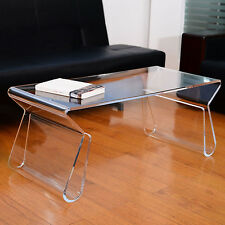 Modern Clear Acrylic End Coffee Table Lucite Carrying Tray Side Portable