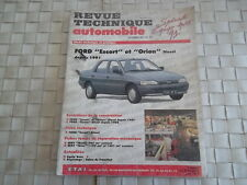 REVUE TECHNIQUE FORD ESCORT ET ORION MOTEUR DIESEL BERLINES et BREAK CLIPPER
