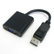 "8"" DisplayPort DP Male to VGA (HD-15) Female Cable Cord Adapter Black"