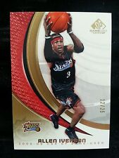 ALLEN IVERSON 2005-06 UPPER DECK SP GAME USED EDITION GOLD #12/25 RARE! NON AUTO