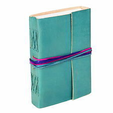 Fair Trade Handmade Leather 3-string Turquoise Leather Journal - 2nd Quality