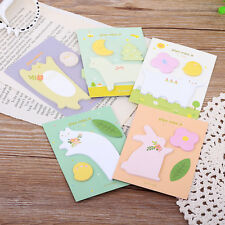 Cat Rabbit Stationery Scrapbooking Stickers Notes Pad Bookmark Paper School LAU