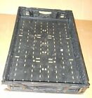 PLASTIC STACKING CRATES LUGS BINS BASKETS FOLDING COLLAPSIBLE 08N, 4