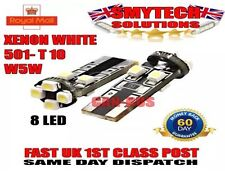 X2 501 White Xenon 8 LED Sidelights/Numberplate Canbus No Error Citroen DS4 1.6