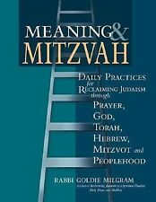 Meaning & Mitzvah: Daily Practices for Reclaiming Judaism through Prayer, God, T