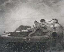 Gravure aux Pointillés - La Volupté l'Endort - Histoire de l'Amour - Circa 1810