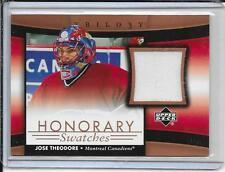05-06 Trilogy Jose Theodore Honorary Swatches Jersey