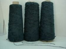 Normandy Blue Rayon 2010 ypp Chenille Yarn 3 Cones~ 2.35 lbs
