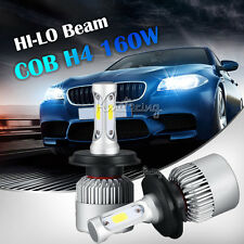 2pcs H4/HB2/9003 160W COB Hi-Lo Beam LED Headlights Bulbs Car 6500K HID Fog Lamp
