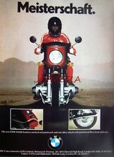 1978 BMW 'R100S' Motor Cycle ADVERT - Vintage Original Print Ad 492d