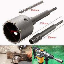SDS Plus Shank Concrete Cement Stone 65mm Wall Hole Saw Drill Bit 200mm Set New
