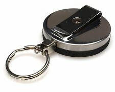 Heavy Duty Retractable ID/Badge Reel with Keyring - FREE P&P