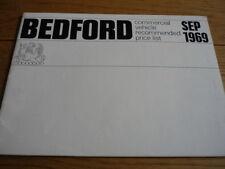 BEDFORD VANS TRUCKS AND BUSES  PRICE LIST  BROCHURE SEPT 1969.jm