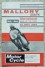 Mallory Park 27 SEP 1964 International course de l'année programme cycle moteur