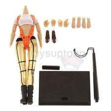 1/6 Female White Crop Top Gold Pants Clothing w/ Body Fit Phicen Head Sculpt