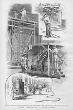 COLUMBIAN EXPOSITION 1893 KALSOMINING MACHINE PAINTING BY MACHINERY STEAM ENGINE
