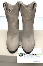 Burberry Finghin Brit Ankle 38.5 Dark Beige Suede Leather Almond Toe 8.5 Boot