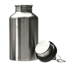 2000ML Stainless Steel Wide Mouth Water Sports Bottle + Carry Carabiner Travel