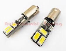 2 LAMPADINE POSIZIONE BAX9S H6 6 LED 5730 SMD 6000K CANBUS DISSIPATORE DI CALORE