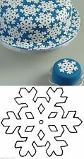 Large Snowflake Patchwork Cutter Christmas or Frozen Cake NEXT DAY DESPATCH