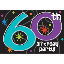 OVER THE HILL Party Continues 60th BIRTHDAY INVITATIONS (8) ~ Supplies Cards
