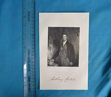 Original 1846 Antique Engraving Print Sir Anthony Carlisle FRS Robinson Fisher