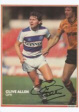 CLIVE ALLEN QUEENS PARK RANGERS 1978-1984 ORIG SIGNED MAGAZINE PICTURE CUTTING