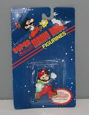 Vintage 1989 Super Mario Bros. Mario Figurine Holding Grass Turnip - IN PACKAGE