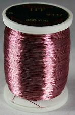 1 Oz Spool Gudebrod DUSTY ROSE #9337 HT Metallic Rod Building Thread Size D