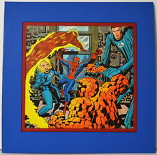 FANTASTIC FOUR & AMAZING SPIDER-MAN PRINT PROFESSIONALLY MATTED