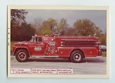 1963 Ford Howe Fire Truck Original Small Photo New Berlin Wisconsin ft0311