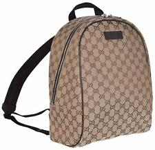 New Gucci 449906 Beige Canvas GG Guccissima Backpack Rucksack Travel Bag