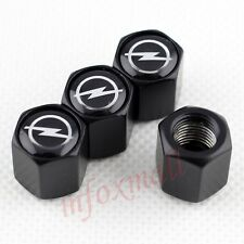 4pcs Auto Wheel Screw Dust Tire Valve Cap Cover Trim For Opel Accessories Black