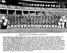 1968 ST LOUIS CARDINALS NFL FOOTBALL TEAM 8x10 PHOTO