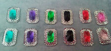 20 x oblong sew on stones 14mm dance, trim,gem,crystal,  flat back,stick on