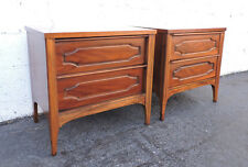 Kent Coffey Mid Century Modern Pair of Nightstands / End Tables 8184