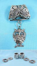 US SELLER-owl scarf rings bail pendant set fashion scarf with pendant