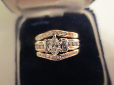 $4,950 14K Gold Diamond Engagement Ring Set Dia=1.00 Carat F-VS2  11 MM Wide