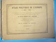 DEUX ATLAS POLITIQUES DE L'EUROPE 1864 PAR BOUFFARD