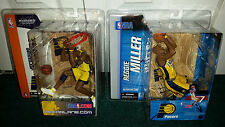 Reggie Miller Variant Jermaine O'neal NBA 7 4 Indiana Pacers Yellow Jersey MISP