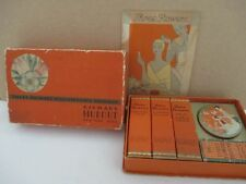 Vintage RICHARD HUDNUT Cardboard Travel Set with Perfume and small powder Tin