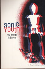 sonic youth nyc ghost & flowers postcard promo tour dates  stereolab & pearl jam