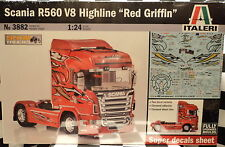 "Italeri 3882 Scania R650 V8 Highline ""Red Griffin""  1:24 Plastic Model 553882"