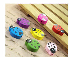 10 x Ladybird Charms Wooden Bead for Bracelet & Necklace, Earring Making