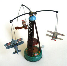 Tin Toy Merry go Round WW1 Planes Airplanes Plane Retro Biplane Airplane
