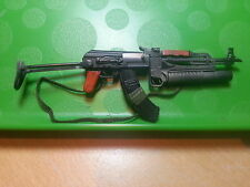 "1/6 AK47 rifle with M203 Grenade Launcher BBI toy for custom 12 "" Rambo 3 figure"