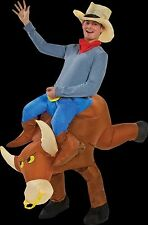 Western Rodeo Riding COWBOY BULL RIDER INFLATABLE COSTUME w-HAT Funny Gag-Adult